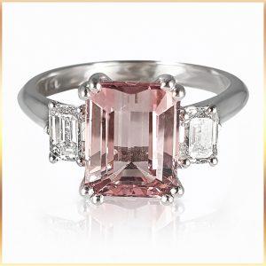 Pink Emerald Cut Tourmaline