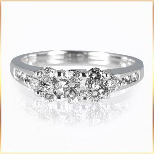 Brilliant Cut Cluster Ring