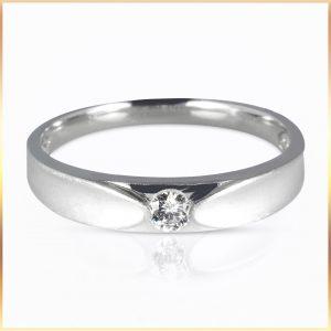 Flush Inset Wedding Ring