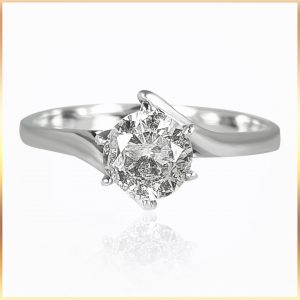 Solitaire Bypass Setting Ring