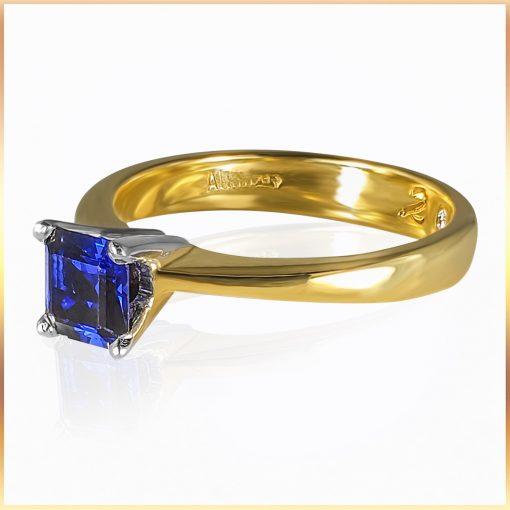 Asscher Cut Sapphire Ring