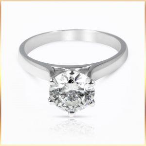 Brilliant Cut Solitaire Ring