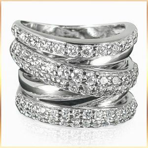 Intertwined Crossover Silver Ring