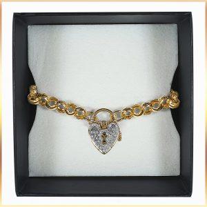 Heart Clasp Belcher Bracelet