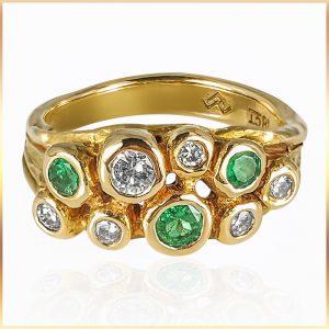 Rustic Asymmetrical Gemstone Ring