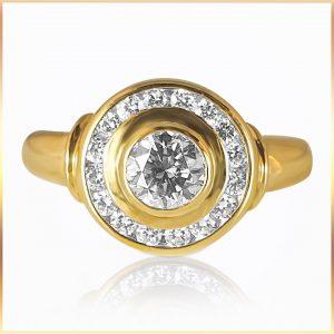 double bezel diamond ring
