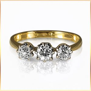 Trilogy Diamond Ladies Ring