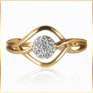 Intricate Bypass Diamond Ring