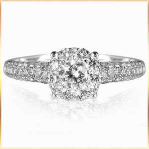 Solitaire Illusion Engagement Ring
